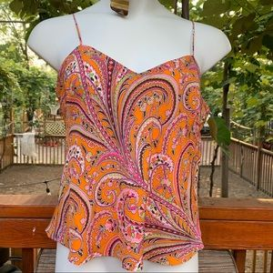 Orange J Crew Dressy Tank top